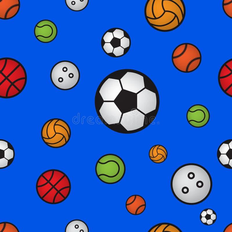 Modèle sans couture de boule de sport illustration de vecteur