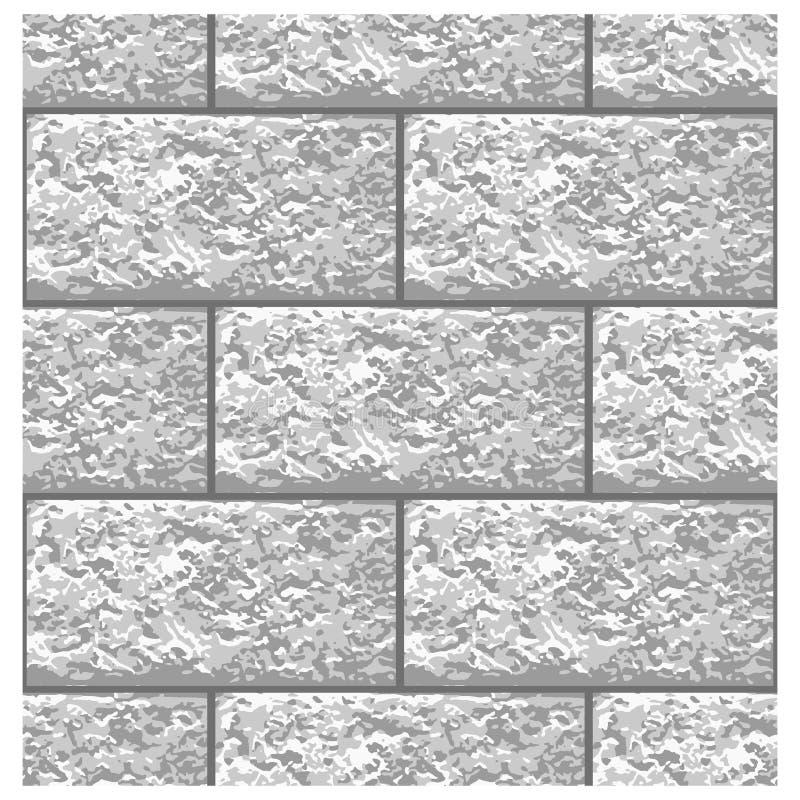 Modèle sans couture de brique de marbre blanche, vecteur illustration libre de droits