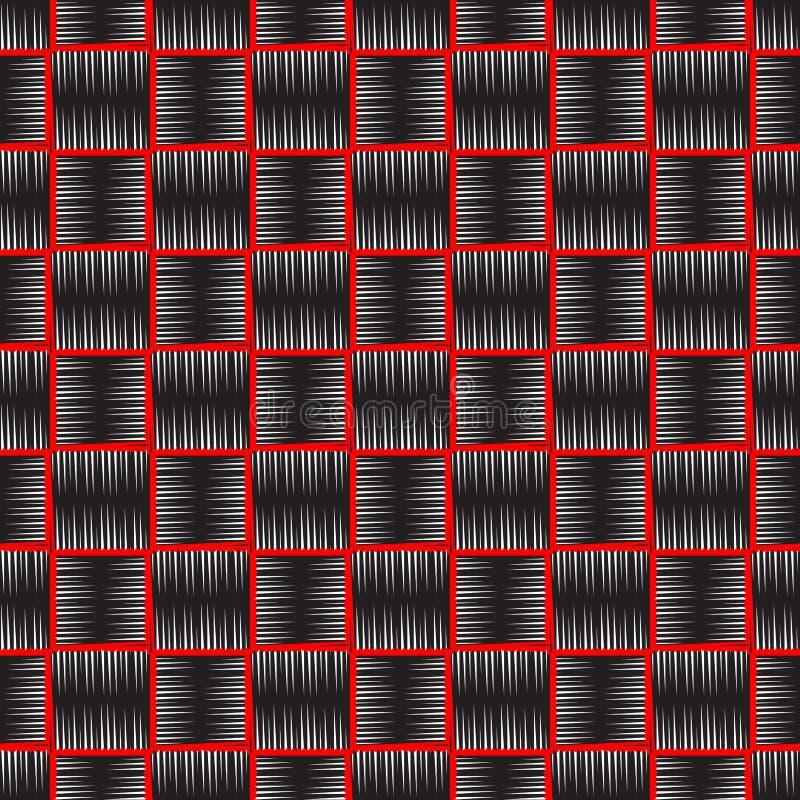 Modèle sans couture de broderie de vecteur texturisé à carreaux de style Fond géométrique de tapisserie de tartan de plaid Répéti illustration stock