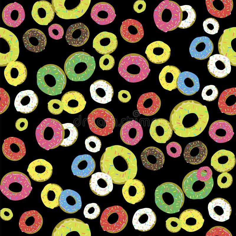 Modèle sans couture de butées toriques douces fraîches colorées illustration de vecteur