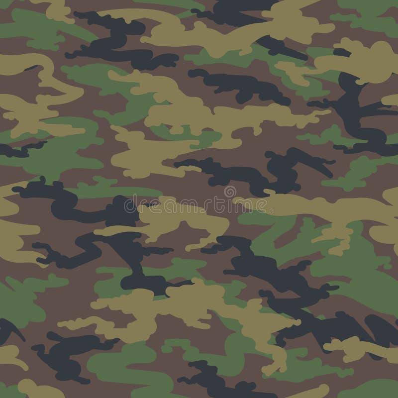 Modèle sans couture de camoflauge de chasse de région boisée illustration libre de droits
