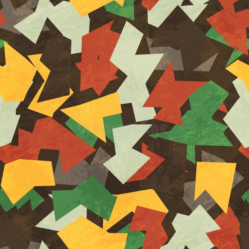 Modèle sans couture de camouflage avec l'effet grunge illustration de vecteur