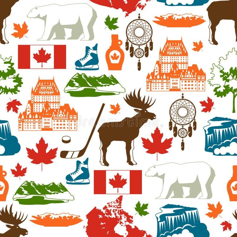 Modèle sans couture de Canada illustration stock
