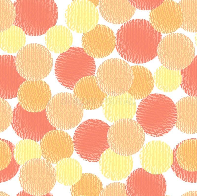 Modèle sans couture de cercle abstrait de vecteur illustration libre de droits