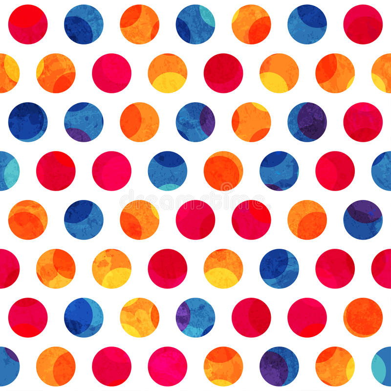 Modèle sans couture de cercle coloré avec l'effet grunge illustration de vecteur