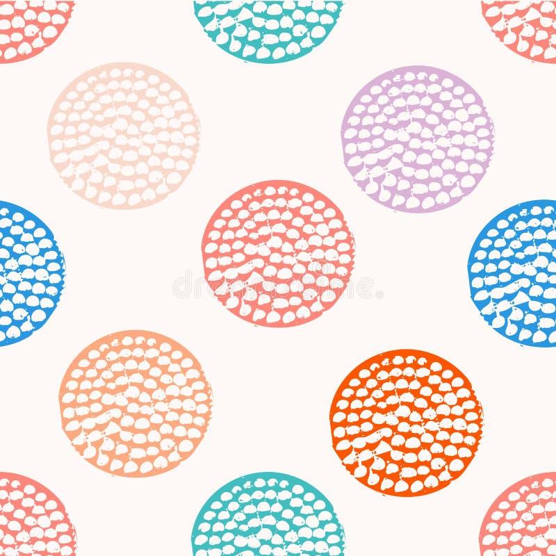 Download Modèle Sans Couture De Cercle Texturisé Coloré, Bleu, Rose, Orange, Point De Polka Grunge Rond Violet, Papier D'emballage Illustration de Vecteur - Illustration du cercle, détruit: 77160909