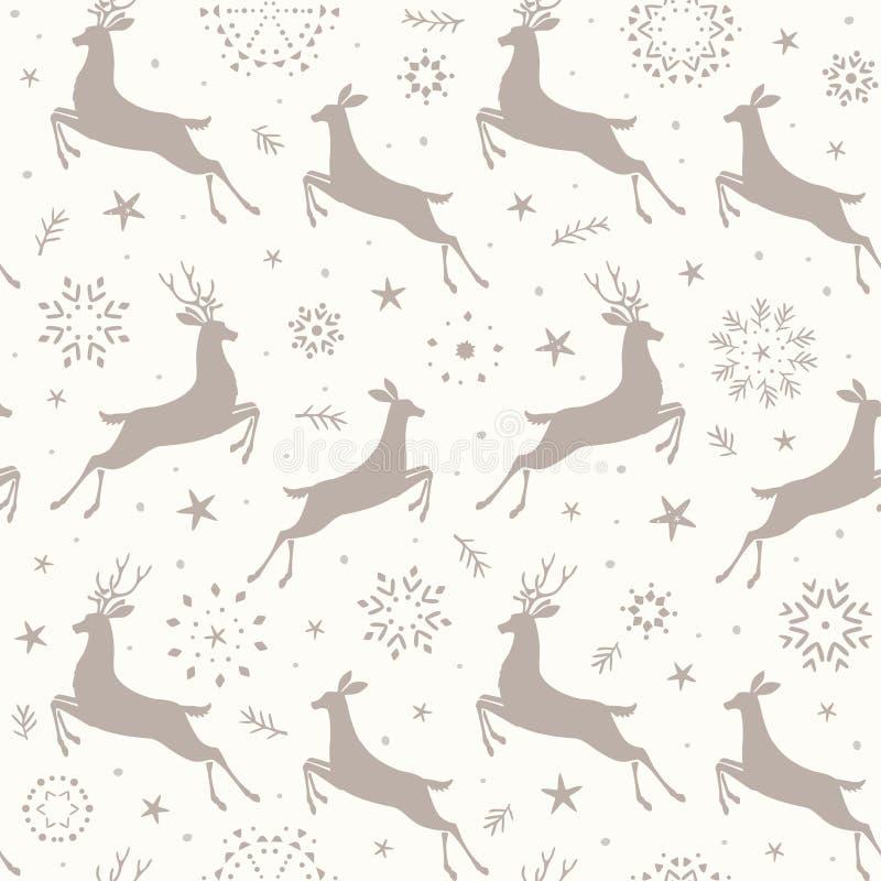 Modèle sans couture de cerfs communs illustration libre de droits