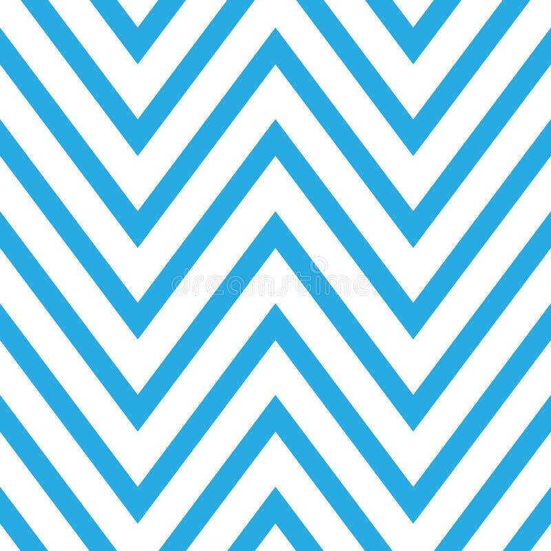 Modèle sans couture de chevron dans bleu et blanc illustration stock