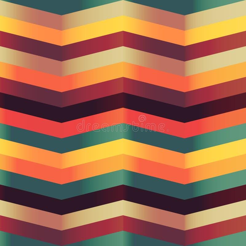 Modèle sans couture de chevron de zigzag illustration stock