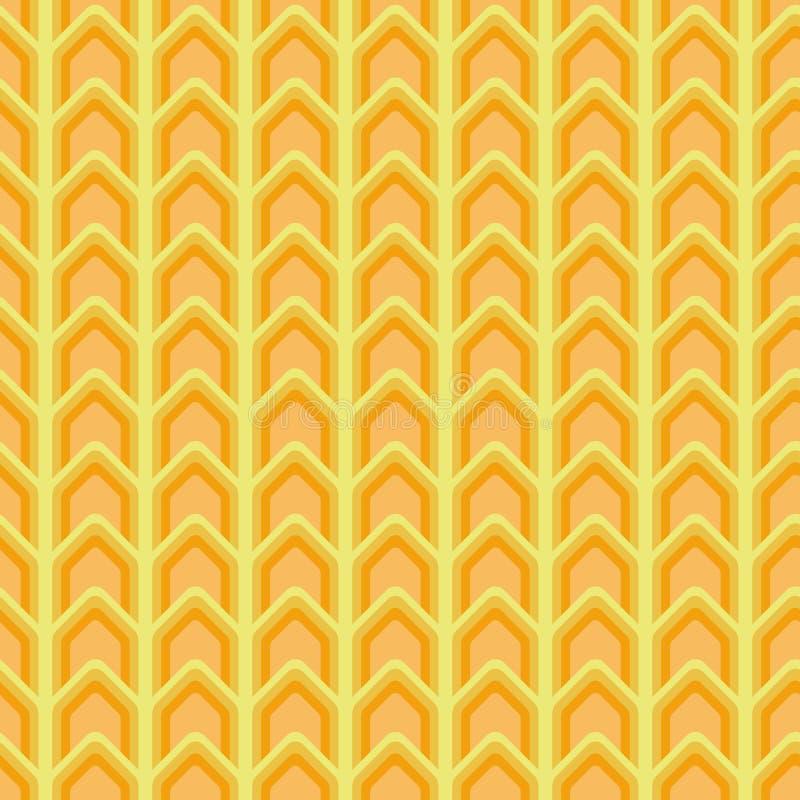 Modèle sans couture de chevron de vecteur dans des couleurs jaunes et oranges illustration libre de droits