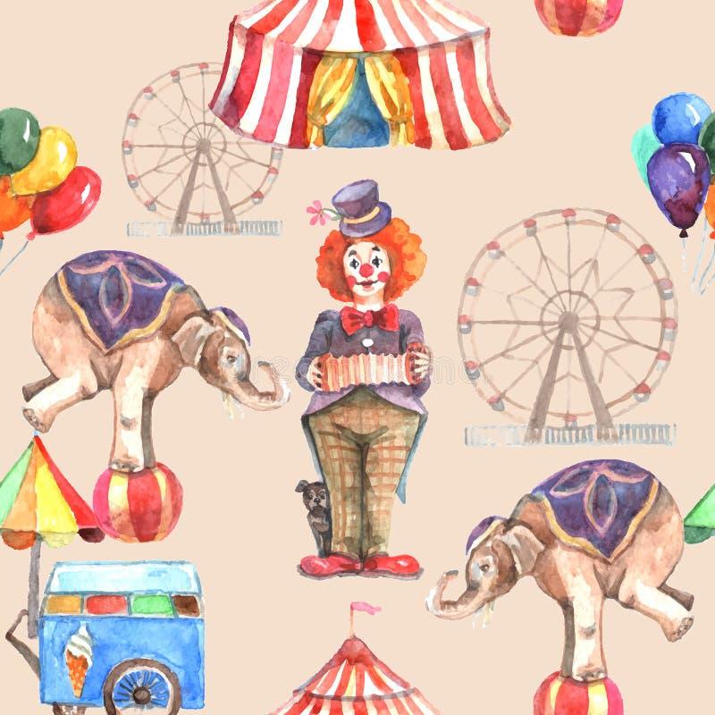 Modèle sans couture de cirque illustration de vecteur