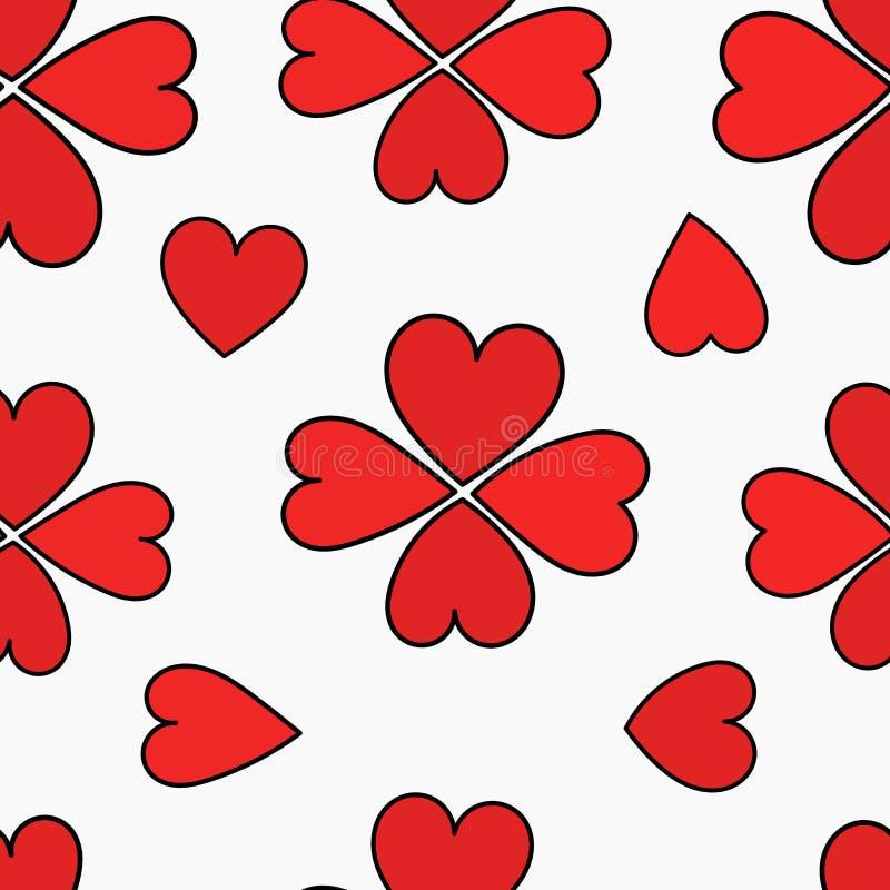 Modèle sans couture de coeur illustration de vecteur
