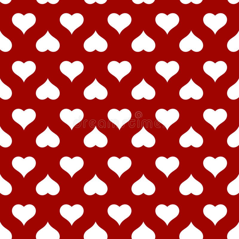 Modèle sans couture de coeur pour la carte de jour de valentines image stock