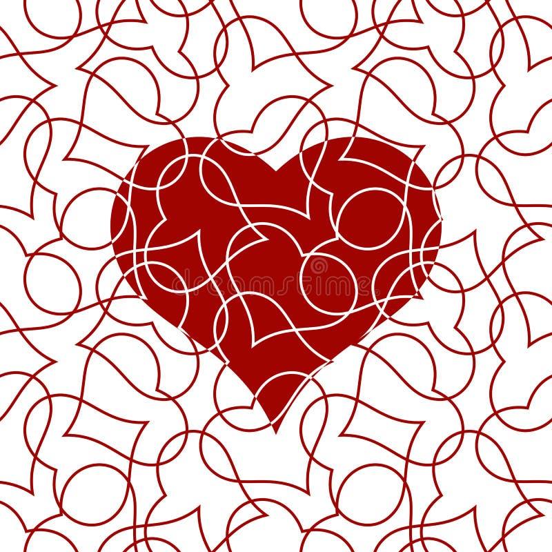 Modèle sans couture de coeur pour la carte de jour de valentines photographie stock libre de droits