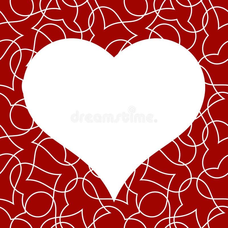 Modèle sans couture de coeur pour la carte de jour de valentines photo stock