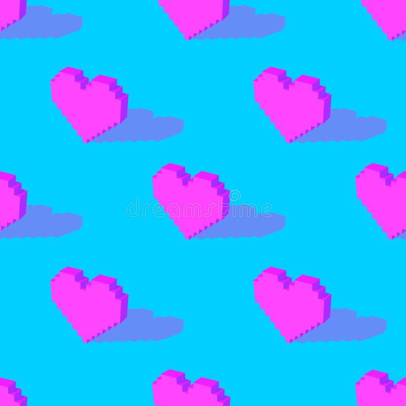 Modèle sans couture de coeur de vecteur illustration de vecteur