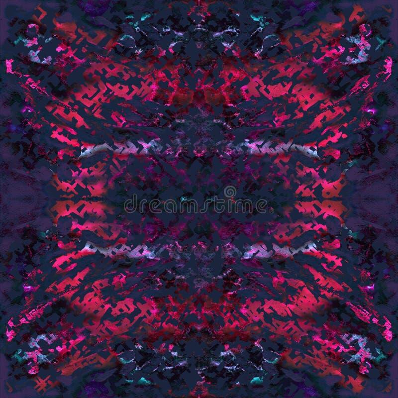 Modèle sans couture de colorant de lien Copie tirée par la main de shibori photographie stock