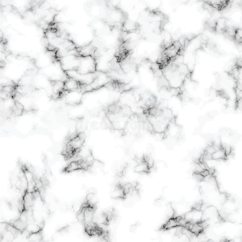 Modèle sans couture de conception de marbre de texture de vecteur, surface de marbrure noire et blanche illustration stock