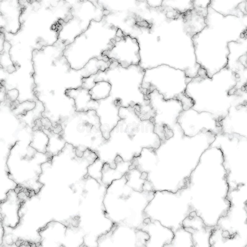 Modèle sans couture de conception de marbre de texture de vecteur, surface de marbrure noire et blanche, fond luxueux moderne illustration libre de droits