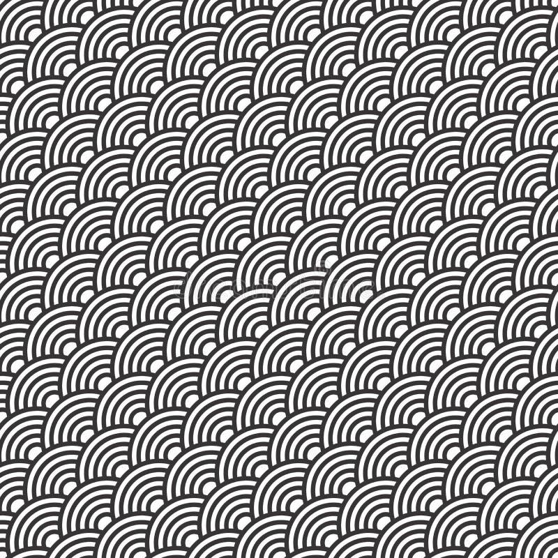 Modèle sans couture de conception de motif de peau de poissons illustration de vecteur