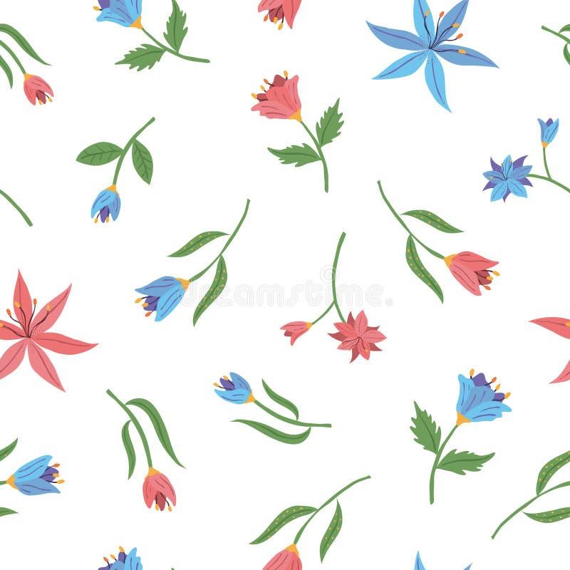 Modèle sans couture de confettis de fleurs de ressort Illustration de vecteur photo libre de droits