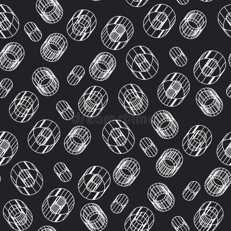 Modèle sans couture de construction géométrique abstraite illustration stock