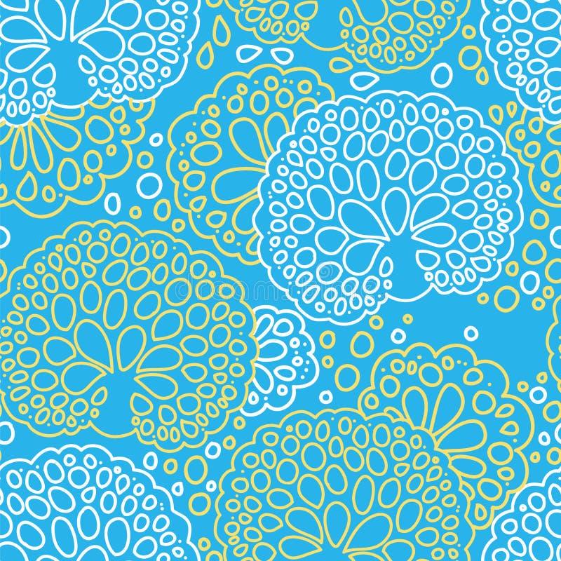 Modèle sans couture de corail de mer illustration de vecteur