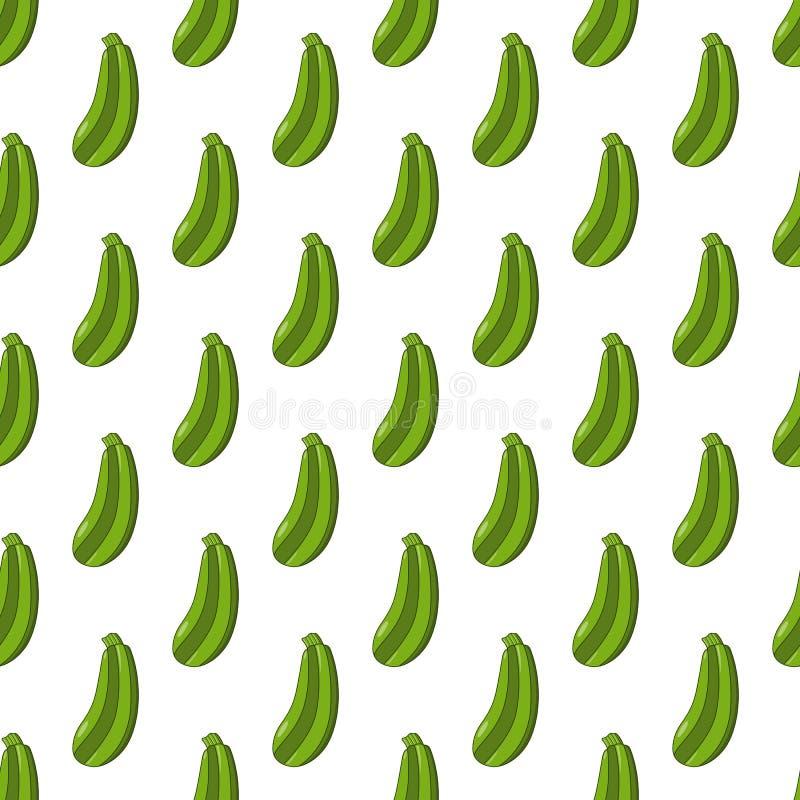 Modèle sans couture de courgette verte sur le blanc illustration libre de droits