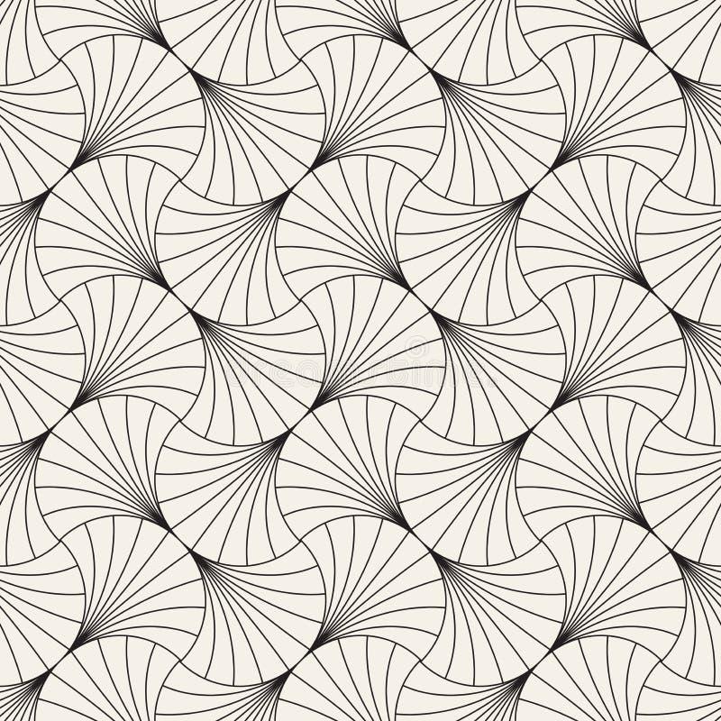 Modèle sans couture de cru de vecteur des arcs de recouvrement dans le style d'art déco Texture abstraite élégante moderne Répéti photos stock