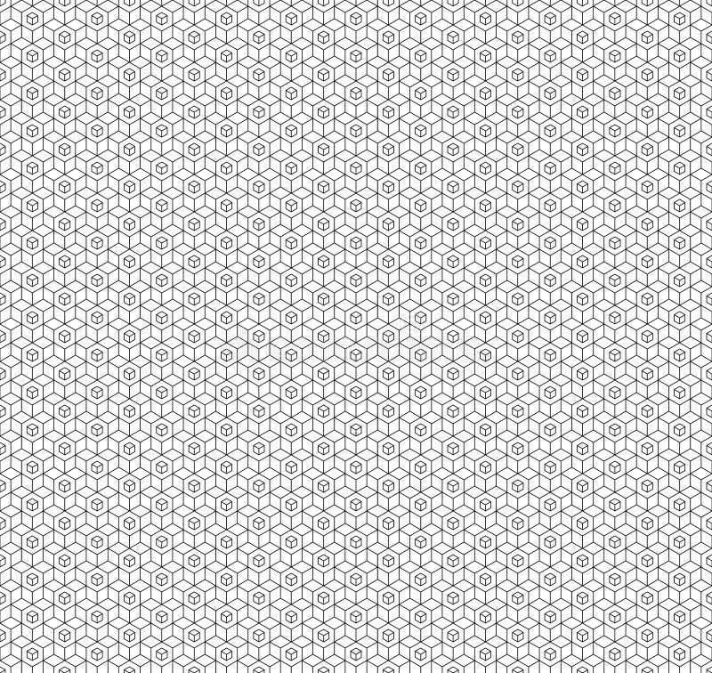 Modèle sans couture de cube géométrique abstrait Fond minimalistic simple de conception graphique, ornement de tissu Vecteur illustration de vecteur