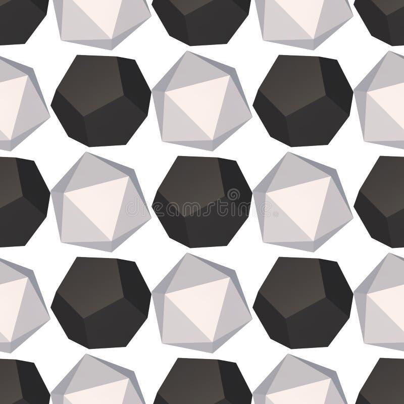 Modèle sans couture de décoration d'hexagones illustration stock