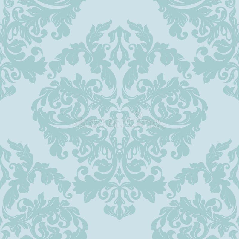 Modèle sans couture de damassé, couleur de pistache illustration libre de droits