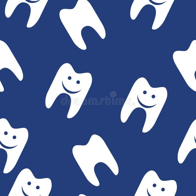 Modèle sans couture de dent pour le web design Vecteur illustration stock