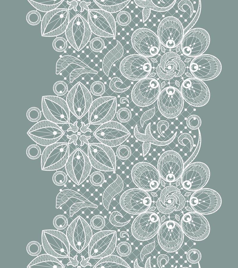 Modèle sans couture de dentelle illustration de vecteur