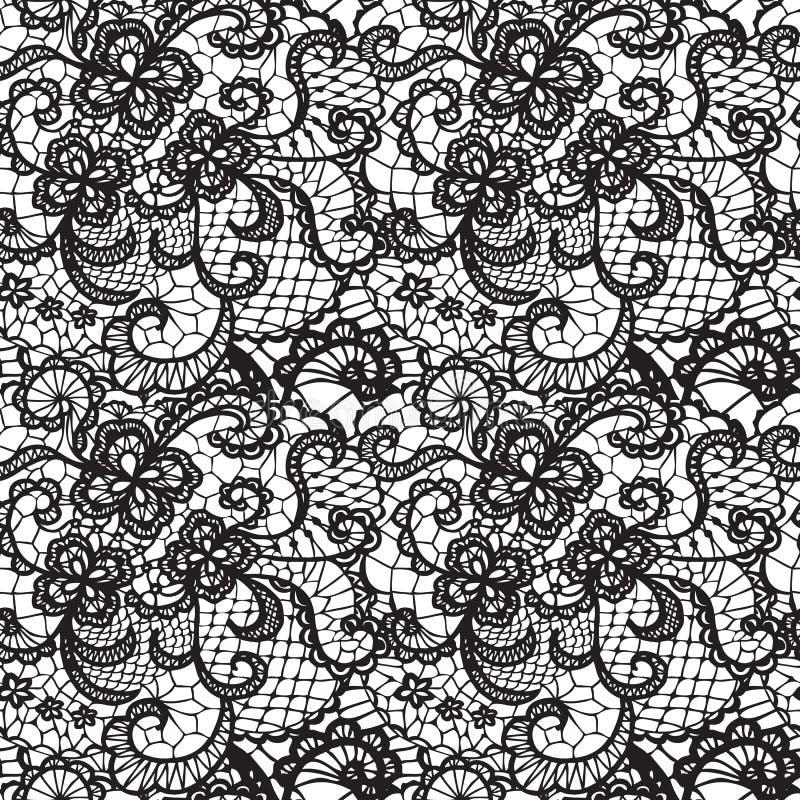 Modèle sans couture de dentelle avec des fleurs illustration de vecteur