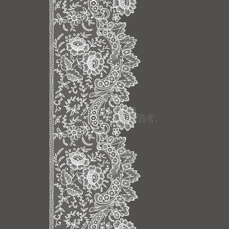 Modèle sans couture de dentelle blanche illustration stock