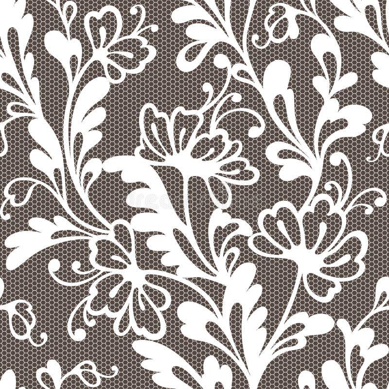 Modèle sans couture de dentelle de fleur images libres de droits