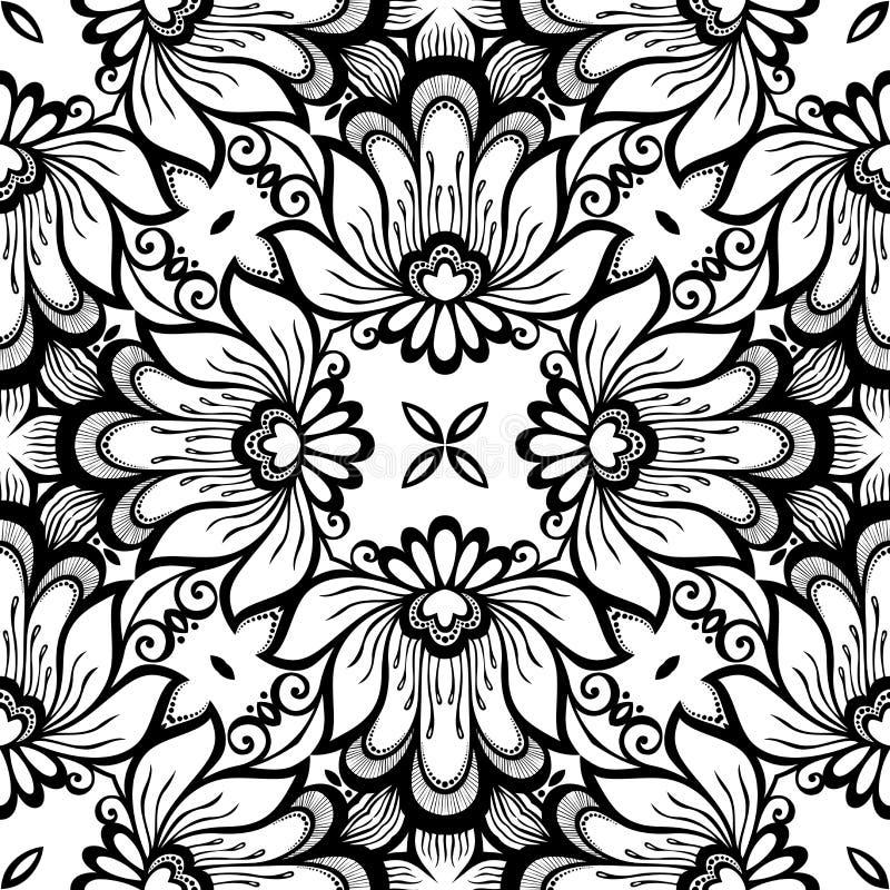 Modèle sans couture de dentelle de vintage (vecteur) illustration de vecteur