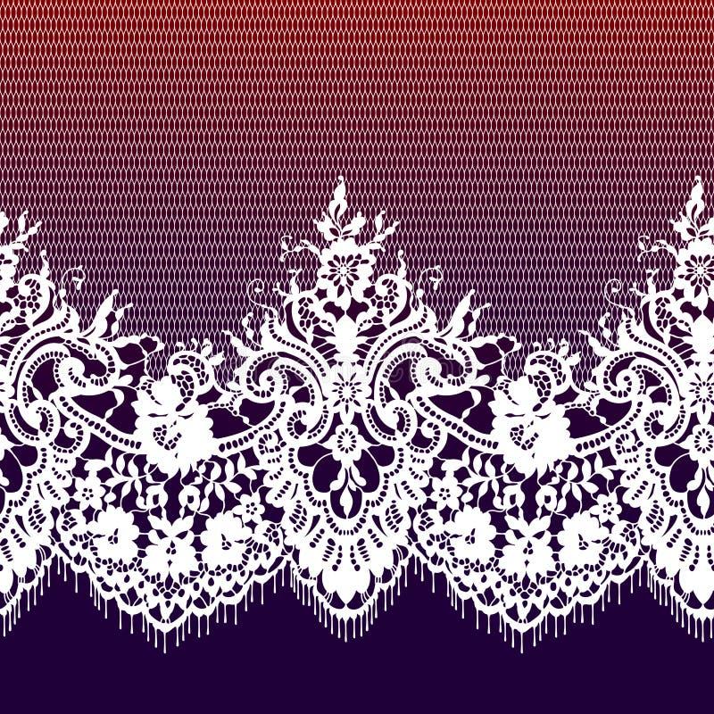 Modèle sans couture de dentelle romantique illustration libre de droits