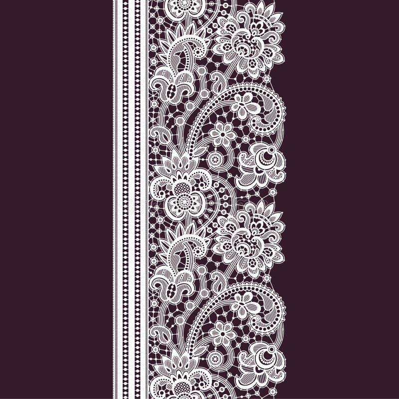 Modèle sans couture de dentelle romantique illustration stock