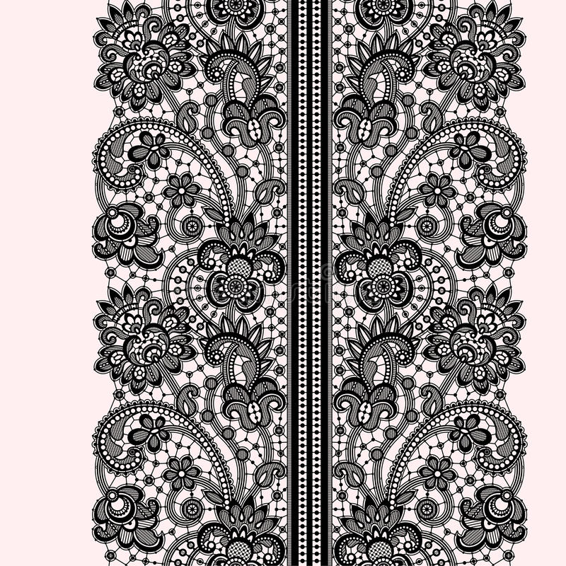 Modèle sans couture de dentelle romantique illustration de vecteur