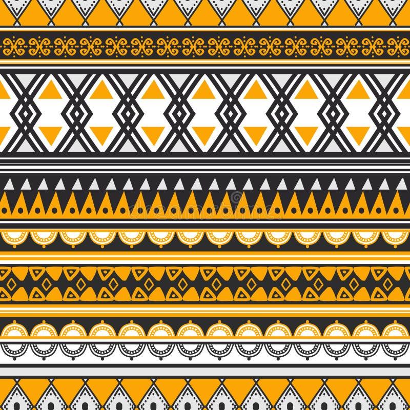 Modèle sans couture de dessin ethnique tribal de fond illustration libre de droits
