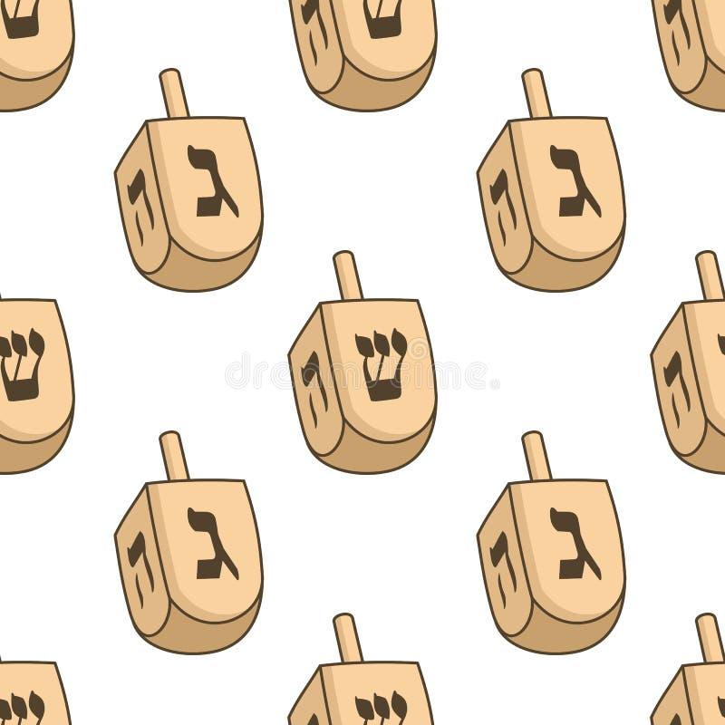 Modèle sans couture de deux Dreidel Hanoucca illustration libre de droits