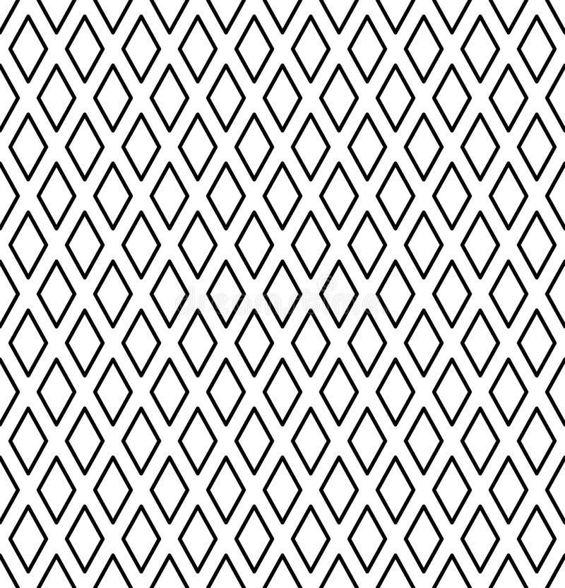 Modèle sans couture de diamants Texture géométrique illustration stock