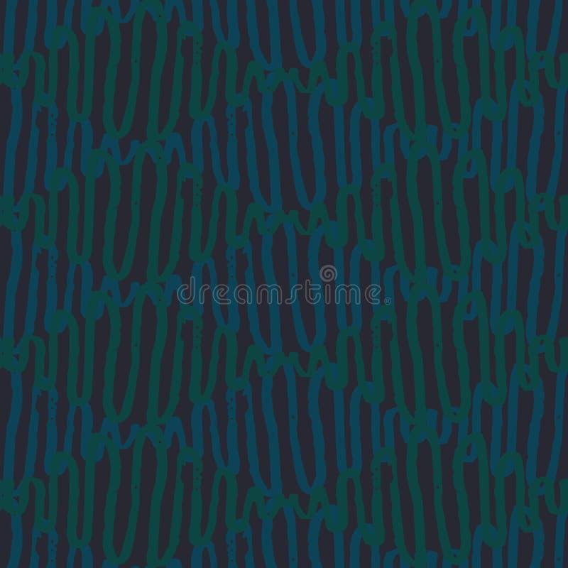 Modèle sans couture de diamants de vecteur avec les lignes onduleuses dans des couleurs bleues et vertes illustration libre de droits