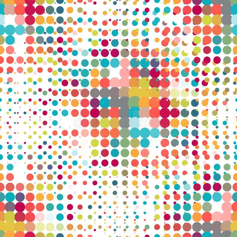 Modèle sans couture de disco des points tramés dans rétro illustration libre de droits
