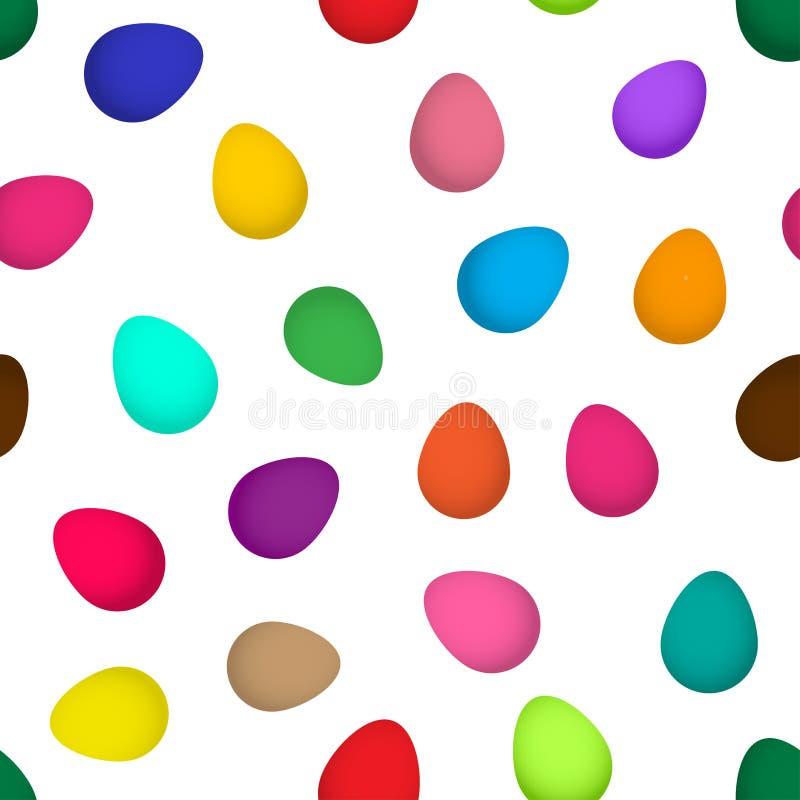 Modèle sans couture de fête avec les oeufs de pâques colorés lumineux Illustration de vecteur illustration stock