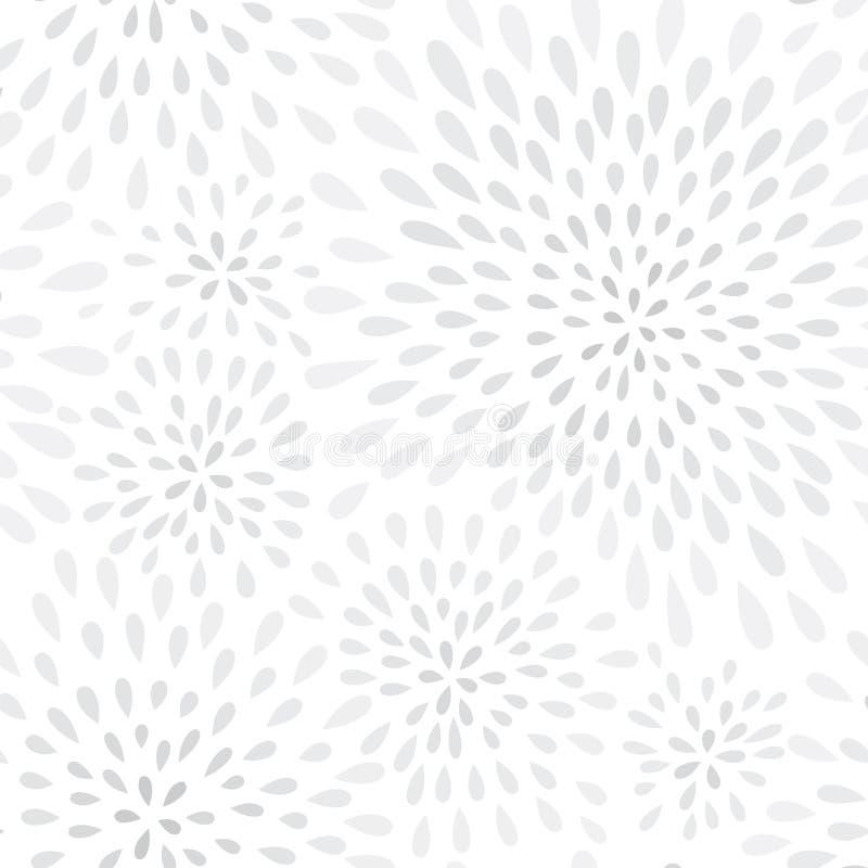 Modèle sans couture de feu d'artifice de point abstrait d'éclaboussure Texture florale de tache de pétale de remous illustration stock