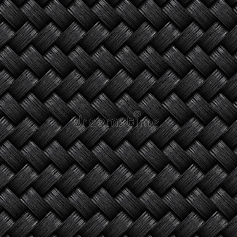 Modèle sans couture de fibre de carbone illustration libre de droits