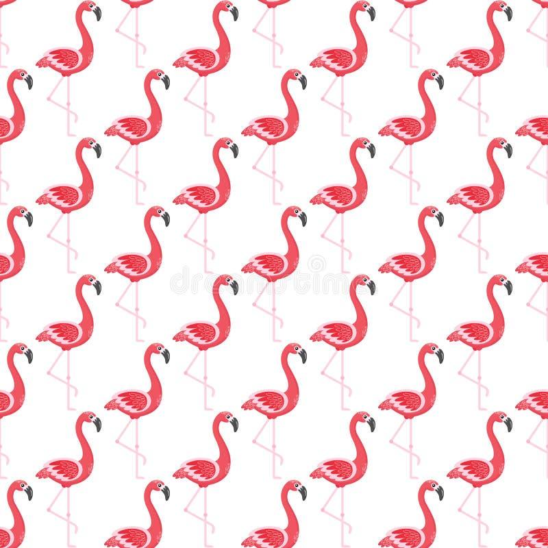 Modèle sans couture de flamant, nature exotique d'oiseaux illustration de vecteur
